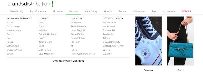 marques proposées par brandsdistribution